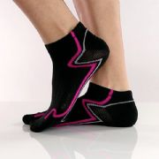 Eigo Lady low-cut coolmax socks black/magenta